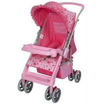 Carrinho Berço P/ Bebê Thor Rosa Laço Tutti Baby Reversível