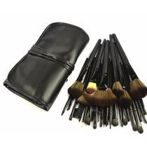 Kit Com 32 Pincéis Maquiagem Profissional Cerdas Naturais