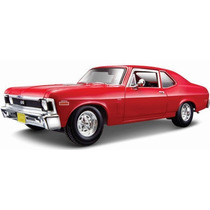 Maisto Chevrolet Chevy Nova Ss 1970 1/18 Rojo ! Diecast