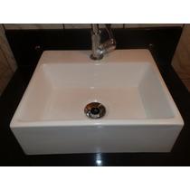 Cuba Sobrepor Para Banheiro Quadrada Modelo Pequena 34x29,5