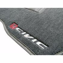 Honda New Civic Jogo Tapete Personalizado Carpet Cinza