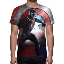 Camisa, Camiseta Filme Guerra Civil - Pantera Negra Mod 03