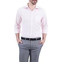 Camisa Social Masculina Rosa Claro Coleccione + Frete Gratis