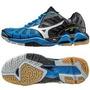 Tenis Mizuno Tornado X Azul Negro Voleibol, Gym, Balonmano