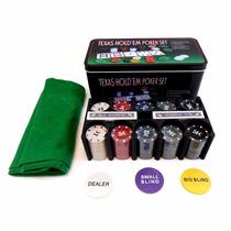 Juego De Poker Set Poker Ideal Oferta Con Detalles 200 Ficha