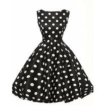 Vestido Vintage Pin Up Color Negro Con Blanco