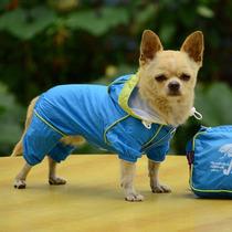 Roupa De Cachorro Capa De Chuva Impermeável Azul