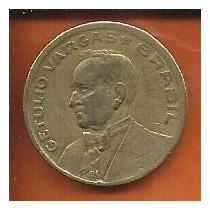 Moeda Brasil 50 Centavos Cruzeiro 1945 G. Vargas Bronze Alum