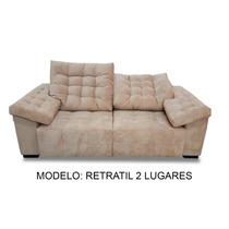 Sofa Retratil 2 Lugares 2.30m - (couro Ecológico)