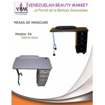 Mesa De Manicure 4 Gavetas Con Llave