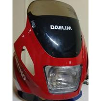 Carenagem Nova Completa Daelim Honda Cg 125 Original Farol