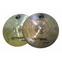 Prato Chimbal Hi Hat 14 Octagon Groove B8 Profissional + Nf