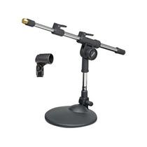 Pedestal Suporte De Mesa Para Microfone Mini Girafa C/ Haste