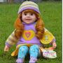 Boneca Reborn Grande 50cm Menina Que Fala, Frete Gratis, -ap