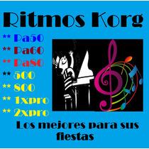 Ritmos Para Teclados Korg Pa50, Pa60, Y Pa80 Envio Gratis