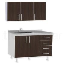 Muebles Cocina Completo Bajo Mesada Bacha Alacena 120 1.20