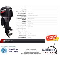 Mercury 90 Hp Elpto - Nautica Garrido - La Brujula Motores