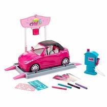 Carro De Barbie Autolavado Glam Incluye Muñeca