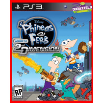 Jogo Infantil Ps3 Psn Phineas And Ferb 2nd Dimension Disney