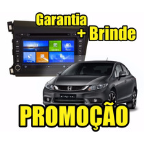 Kit Central Multimidia Civic Dvd Gps Tv Bt Cam Ré 12x S/ Jur