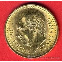 Dos Y Medio Pesos Oro F. Centenario Moneda Goldmex Inversion