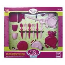 Conjunto Jogo Kit Infantil Panelinhas Prato Garfo Copo Tabua
