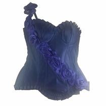 Corpete Corselet Corset Azul