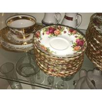 6 Platos De Te, Porcelana Royal Albert, Old Country Roses.
