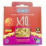 Corrente Bicicleta Kmc X10 Ti-n Dourada 10v 116 Links