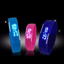 Reloj Pulsera Digital Led Silicona Deport Hom/mujer Colores