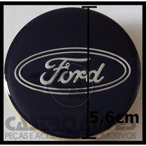 Calota Tampa Roda Esportiva Scorro S215 Ford 5,6cm - 1 Pç