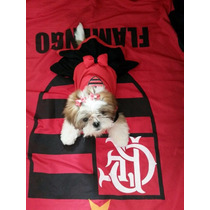 Vestido Flamengo Roupinha De Time Para Cachorro P & M