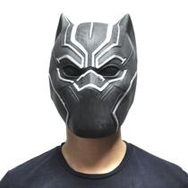 Máscara Pantera Negra Luxo Adulto Látex Cosplay Fantasia