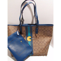 Bolsa Coach Original Coach Autentica Pac Man Reversible