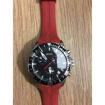 Reloj Mido Ocean Star Captain Chronograph Pulso Rojo