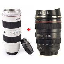 2 Copos Caneca Termica Lente Canon 70-200mm + Ef 24-105mm