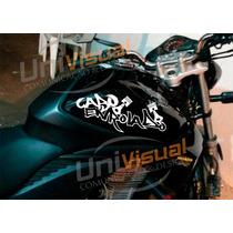 Adesivo Cabo Enrolado 2 Peças 37,5cmx15cm Motos Carros