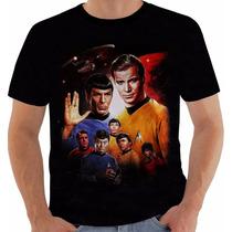Camiseta Star Trek - Jornada Nas Estrelas - Kirk - Spock