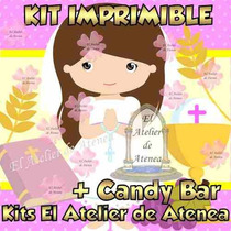 Kit Imprimible Primera Comunion Nena Candy Bar Golosinas
