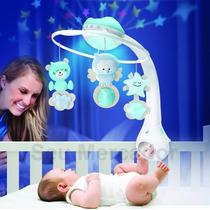 Móbile Para Berço De Bebê 3 Em 1 Com Som Luminária Música