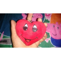 Lindo Chaveiro Coração De Pelucia 09x12cm