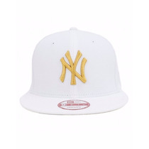 Boné Aba Reta New Era 9fifty New York Yankees Branco Ouro