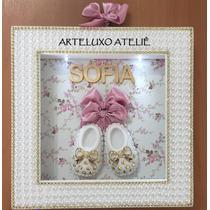 Kit Porta Maternidade Led + Bandeja Retangular + Letra V Mdf