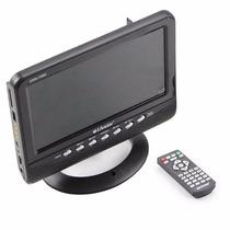 Mini Televisão Tv Portátil 7 Polegadas Lcd Rádio + Controle