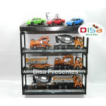Kit 9 Pcs Carrinhos + Caminhões Metal Diecast Altos Detalhes