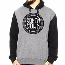 Blusa Casaco Moletom Raglan Damassaclan Costa Gold