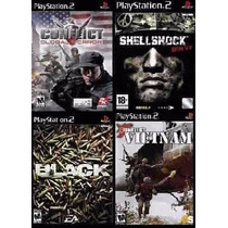 Conflict Vietnam Para Playstation 2 (kit 4 Jogos Ps2 Guerra