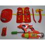 Bombeiro Apaga Fogo Pistola Dagua Capacete Colete Infantil
