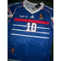Camiseta Francia Retro 1998 Zinedine Zidane