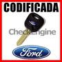 Llave Codificada Ford Ecosport Fiesta Ranger Chip Logo Max